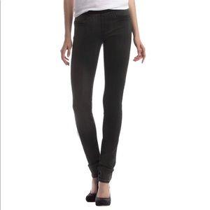 Helmet Lang gray black stretch skinny legging jean